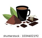 banner with cocoa drink  cocoa... | Shutterstock .eps vector #1034602192