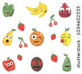 cartoon factory symbols. fruity ... | Shutterstock .eps vector #1034602555
