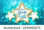 gold star. rays. three...   Shutterstock . vector #1034602672