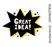 great idea  vector poster.... | Shutterstock .eps vector #1034607856