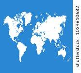 world map vector. | Shutterstock .eps vector #1034610682