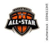all star basketball  sports...   Shutterstock .eps vector #1034611345