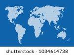 dotted world map. | Shutterstock .eps vector #1034614738