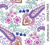 seamless pattern with ornate... | Shutterstock .eps vector #1034617405