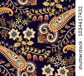 seamless pattern with... | Shutterstock .eps vector #1034617432