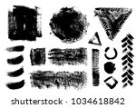 set of black ink vector stains | Shutterstock .eps vector #1034618842