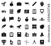 flat vector icon set   copybook ... | Shutterstock .eps vector #1034620768