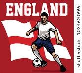 soccer player of england | Shutterstock .eps vector #1034620996