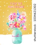 you're awesome mothers day card ... | Shutterstock . vector #1034621302