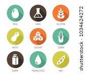 set of food labels   allergens  ...   Shutterstock .eps vector #1034624272