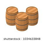 Isometric Barrels Isolated On...