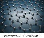 graphene molecular grid ... | Shutterstock . vector #1034643358