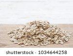 rolled oats.  granola  cereals...   Shutterstock . vector #1034644258