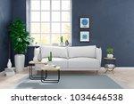 modern scandinavian style  ... | Shutterstock . vector #1034646538
