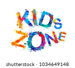 kids zone. vector colorful... | Shutterstock .eps vector #1034649148