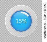 15 percent pie chart on... | Shutterstock .eps vector #1034649622