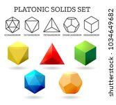platonic 3d shapes. platon... | Shutterstock .eps vector #1034649682