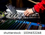 professional music dj playing... | Shutterstock . vector #1034652268