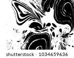 black and white liquid texture. ... | Shutterstock .eps vector #1034659636