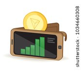 tron coin cryptocurrency... | Shutterstock .eps vector #1034660308