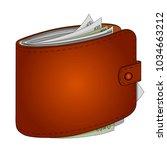 mans purse full of money. euro... | Shutterstock .eps vector #1034663212