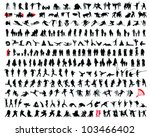set of detailed  silhouettes of ... | Shutterstock .eps vector #103466402