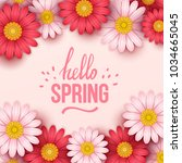 colorful spring background with ... | Shutterstock .eps vector #1034665045