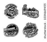 set of motocross illustration...   Shutterstock .eps vector #1034669455