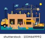 vector illustration cartoon... | Shutterstock .eps vector #1034669992