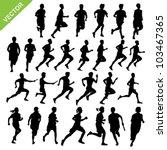 running silhouettes vector | Shutterstock .eps vector #103467365