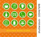 symbols of kitchen ware on... | Shutterstock .eps vector #103467698