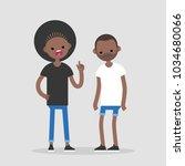 quarrel conceptual illustration.... | Shutterstock .eps vector #1034680066