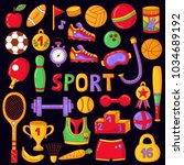 sport fitness activity colorful ... | Shutterstock .eps vector #1034689192