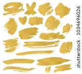 grunge brush stroke | Shutterstock .eps vector #1034696026