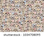 seamless pattern  in the form... | Shutterstock .eps vector #1034708095