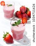 glasses of refreshing...   Shutterstock . vector #1034711626