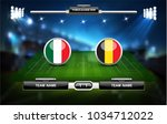 football or soccer playing... | Shutterstock .eps vector #1034712022