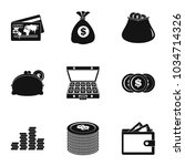 scholarship icons set. simple... | Shutterstock .eps vector #1034714326