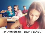 education  bullying  conflict ... | Shutterstock . vector #1034716492