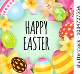happy easter cute background...   Shutterstock .eps vector #1034727556