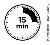 set of timers   fifteen minutes ... | Shutterstock .eps vector #1034728042