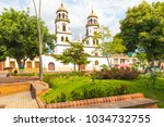 floridablanca february 2018... | Shutterstock . vector #1034732755