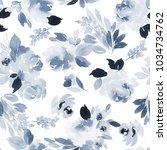 seamless summer pattern with... | Shutterstock . vector #1034734762