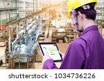 industry 4.0 robot concept ... | Shutterstock . vector #1034736226