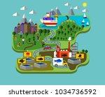 fish farming industry | Shutterstock .eps vector #1034736592