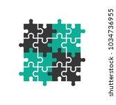 vector puzzle icon in trendy... | Shutterstock .eps vector #1034736955