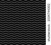 wavy seamless pattern   simple... | Shutterstock .eps vector #1034744302