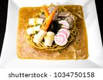crispy egg noodles thai food | Shutterstock . vector #1034750158