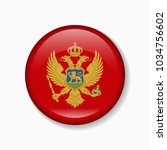 montenegro flag round badge or... | Shutterstock .eps vector #1034756602
