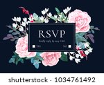botanical wedding invitation... | Shutterstock .eps vector #1034761492